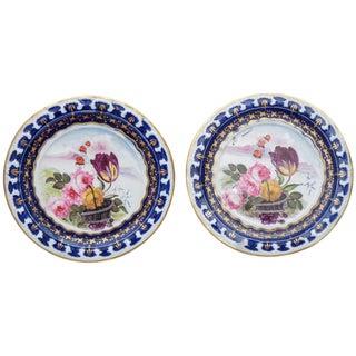 Pair of Vieux Paris Small Decorative Plates For Sale