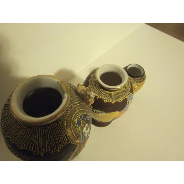 Vintage Japanese Satsuma Vases - Set of Three - Image 8 of 11