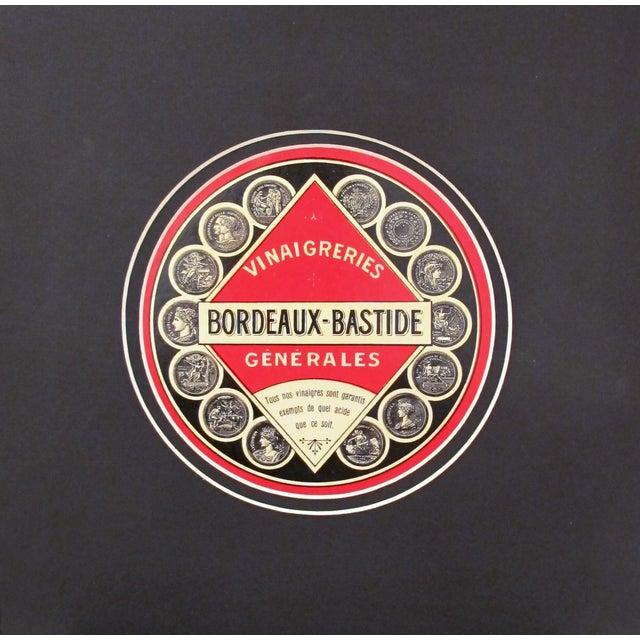 1930s French Art Deco Food Label, Vinegar - Image 2 of 4