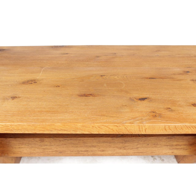 French Country-Style Trestle Table - Image 8 of 8