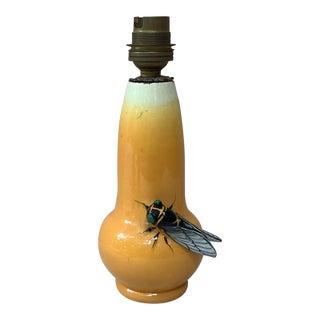 French Majolica Cicada Lamp Jerome Massier Fils Circa 1900 For Sale