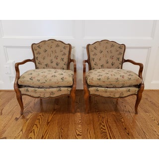 Early 20th Century French Fauteuil Arm Chairs- a Pair Preview