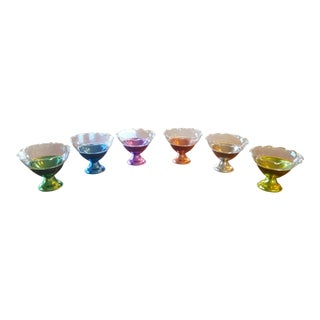 Mid-Century Modern Colorful Dessert Bowls - Set of 6 For Sale