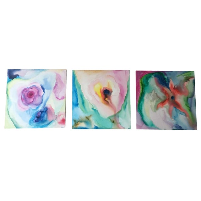 Original Acrylic Abstract Paintings - Set of 3 - Image 1 of 6