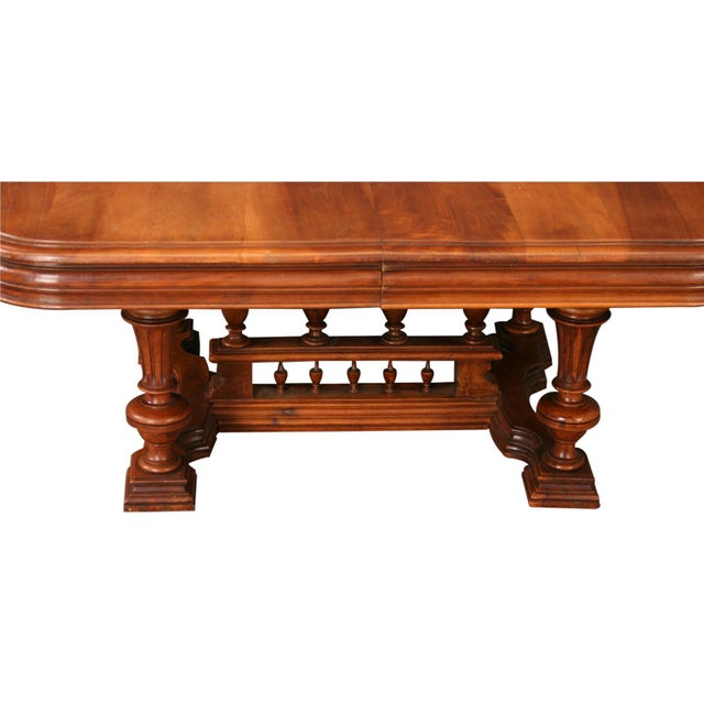 Antique French Henry II Walnut Pub Coffee Table - Image 3 of 7
