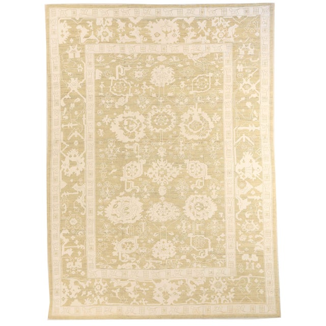 Contemporary Persian Oushak Rug - 10′ × 13′9″ For Sale - Image 12 of 12