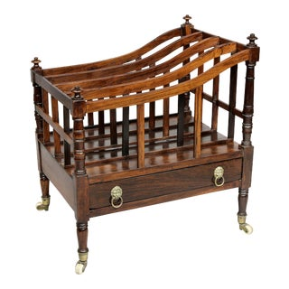 Early 19th Century Regency Rosewood Canterbury For Sale