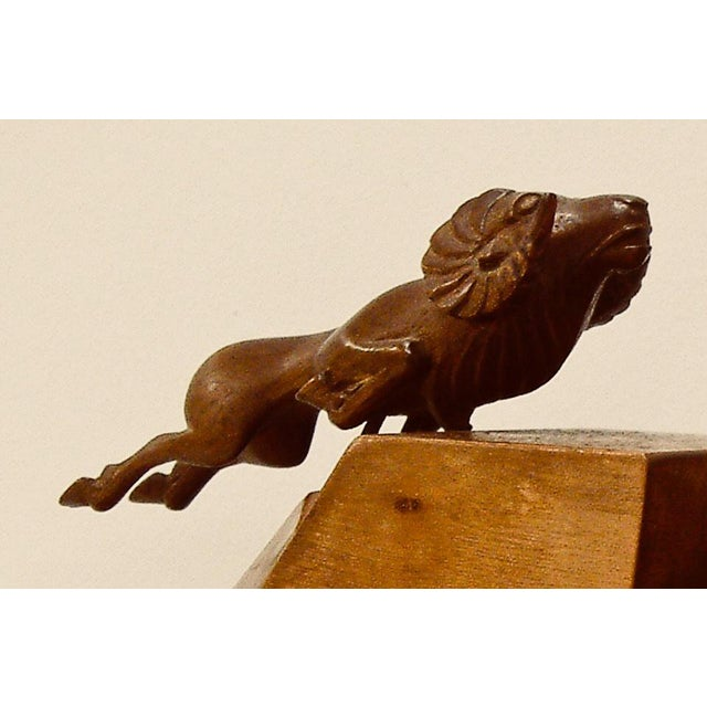 1930s 1930s Art Deco Ram Bookends - a Pair For Sale - Image 5 of 9