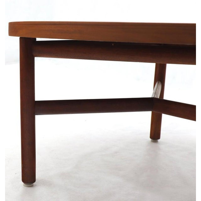Wood Thick Solid Teak Top Round Coffee Center Table For Sale - Image 7 of 11