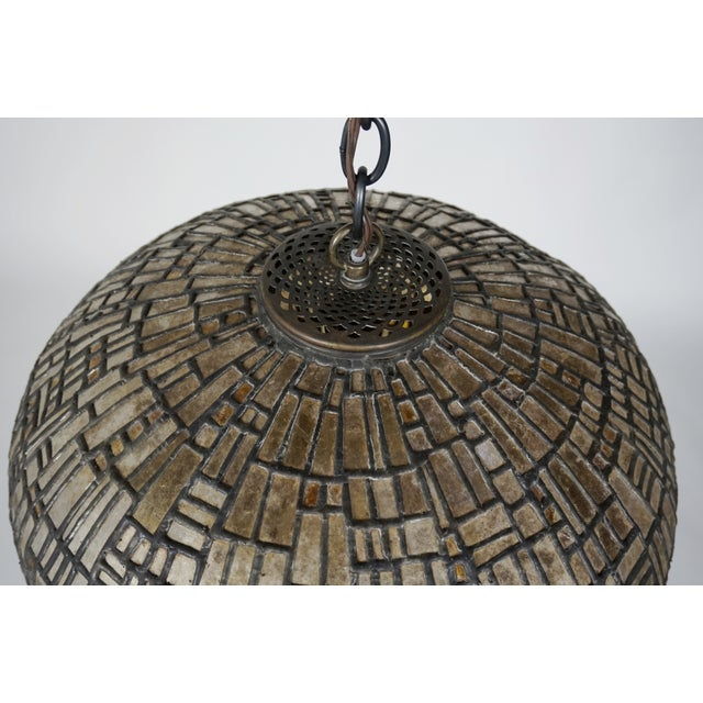 Leaded Mica Hanging Sculpture Light by Adam Kurtzman For Sale - Image 10 of 10