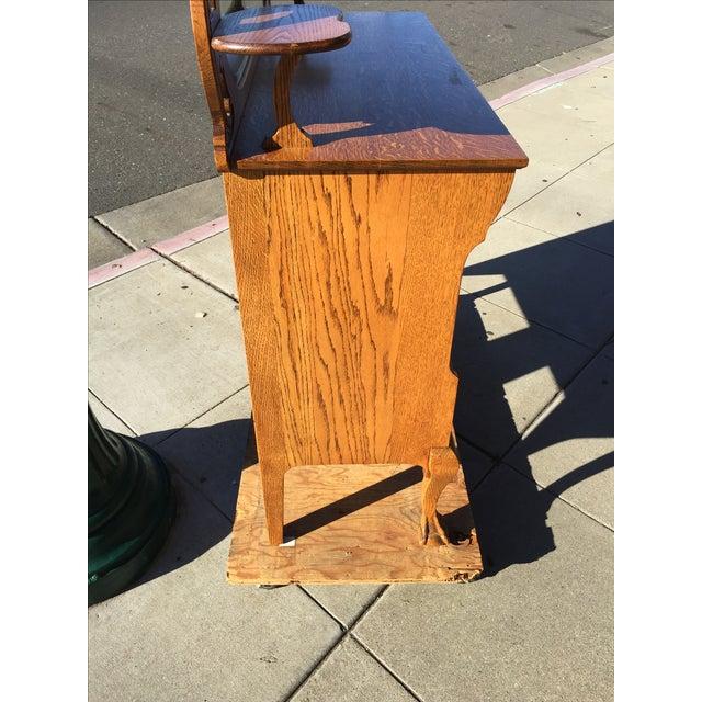 Victorian Oak Sideboard Server With Carved Griffins - Image 9 of 9