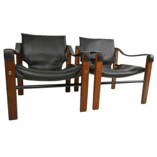 Vintage Pair of Safari Chairs by Maurice Burke for Arkana For Sale