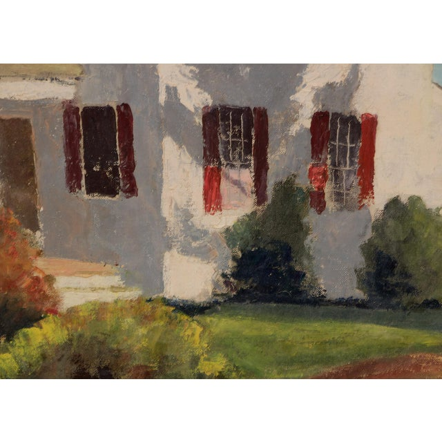 """""""The School Master's House"""" California Original Framed Vintage Oil Painting by Jon Blanchette (1908-1987) For Sale - Image 4 of 9"""