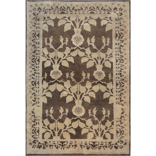 "Mansour Fine Handwoven Arts&Crafts Voysey Rug - 6' X 9'11"" For Sale"