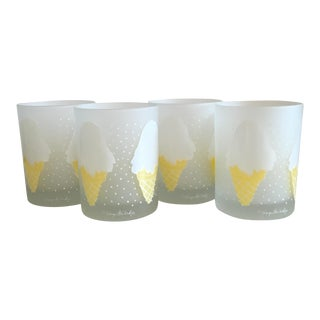 Georges Briard Ice Cream Old Fashion Glasses - S/4