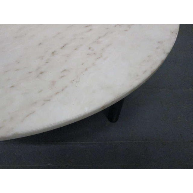 1950s Edward Wormley for Dunbar Marble Top Coffee Table For Sale - Image 5 of 6