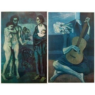 1950s Picasso, Blue Epoch Lithographs - a Pair For Sale
