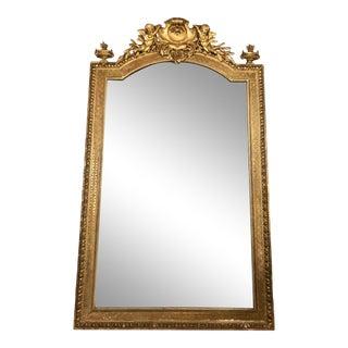 Napoleon III Parcel Gilt Over Mantel Mirror For Sale