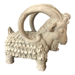 1970s Mid Century Signed Sculptural Ram For Sale