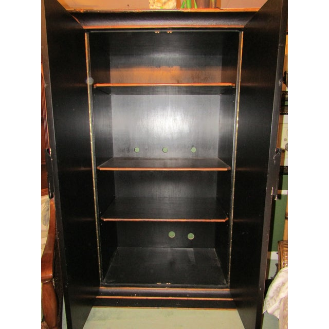 1980s Boho Chic Tall Bamboo and Rattan Cabinet For Sale - Image 4 of 8