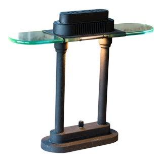 1980s Postmodern Banker Lamp by Robert Sonneman for George Kovacs For Sale