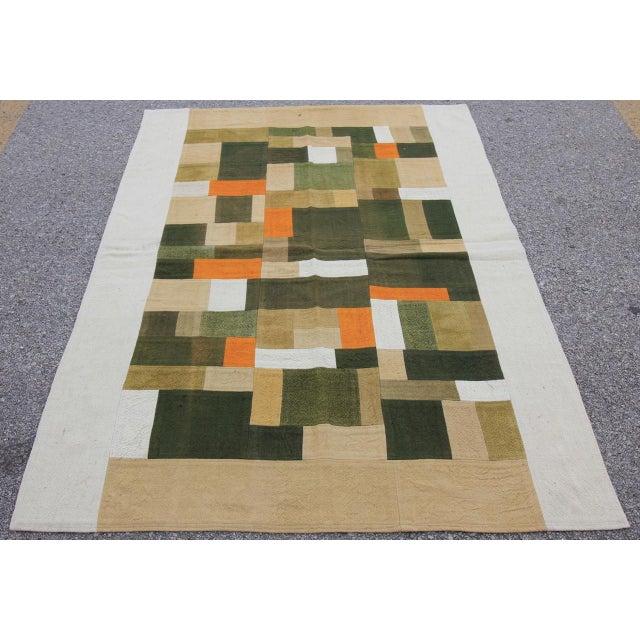Vintage Turkish Curtain Perde Kilim Patchwork Rug - 2′6″ × 6′1″ - Image 2 of 6