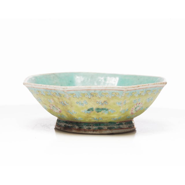 Asian Style 18th Century Chinese Famille Rose Bowl For Sale - Image 4 of 7