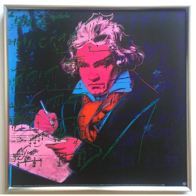 "Andy Warhol Foundation Vintage 1992 Lithograph Print Framed Pop Art Poster "" Beethoven "" 1987 For Sale - Image 13 of 13"