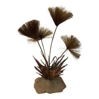 John Steck Brutalist Pom Pom Desert Flower Sculpture For Sale