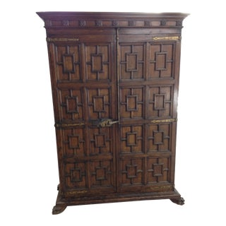 19th Century Medieval Walnut Armoire For Sale