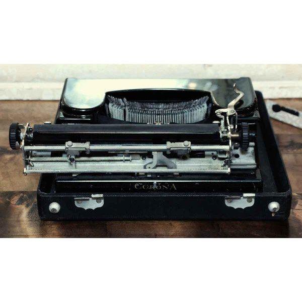 Antique Smith Corona Typewriter With Case - Image 5 of 6