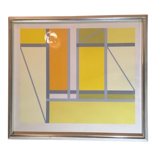 "1960s Vintage Arnold Hoffman Jr. ""Full Sun"" Serigraph Print For Sale"