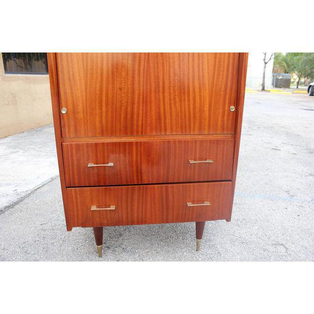 Monumental French Art Deco Mahogany Bar, Circa 1940s - Image 5 of 9