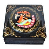 Image of Vintage Russian Lacquer Box For Sale