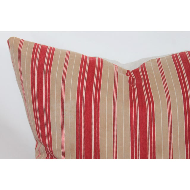 Red Striped Ticking Pillow - Image 3 of 5