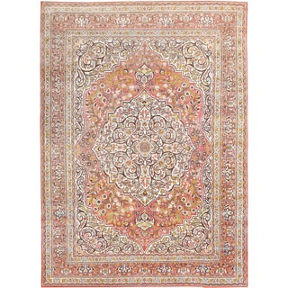 Antique Persian Tabriz Oriental Haji Jalili Rug - 8′8″ × 12′ For Sale