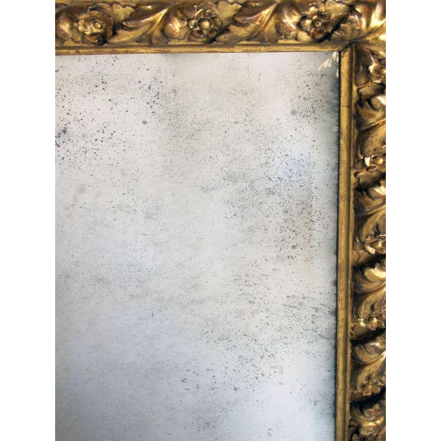 A Richly Carved Italian Baroque Style Giltwood Mirror with Reticulated Frame - Image 3 of 3