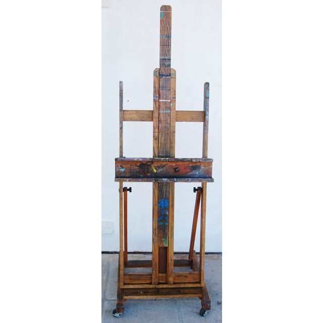 Vintage Adjustable Oak Artist's Easel - Image 2 of 11