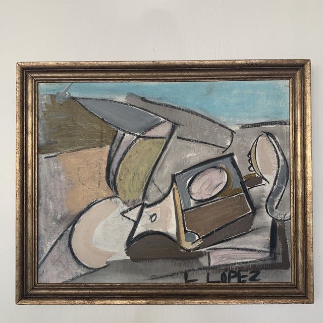 1980s Framed Charcoal Abstract Drawing For Sale In Houston - Image 6 of 13