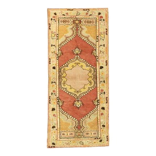 Vintage Turkish Oushak Rug, 02'09 X 06'04 For Sale
