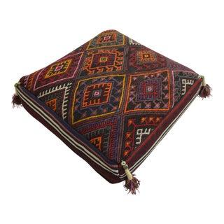 Turkish Kilim Hand Made Sitting Cushion Floor Pillow - 25″ X 25″