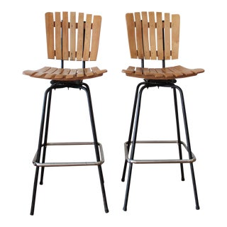 Arthur Umanoff Style Bar Stools- A Pair