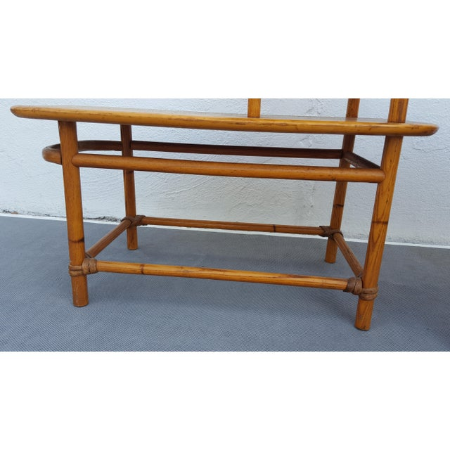 Heywood - Wakefield Two Tier Side Tables a Pair For Sale - Image 9 of 13