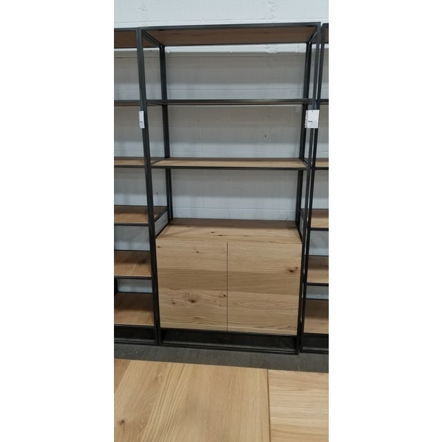 Industrial Industrial West Elm Bookcase With Doors For Sale - Image 3 of 5