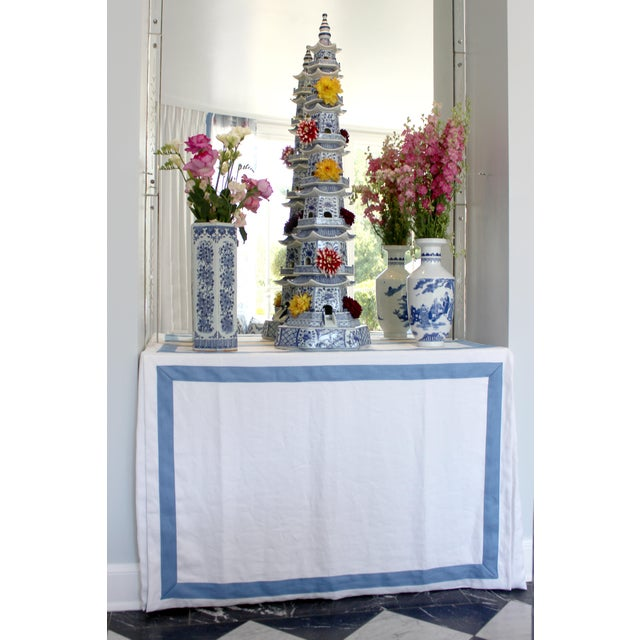 Chinese Blue and White Porcelain Pagodas - a Pair For Sale - Image 4 of 13