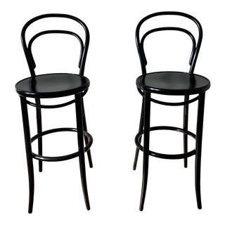 Modern Era Black Barstools- A Pair For Sale