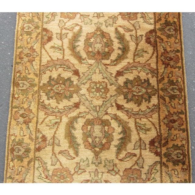 "Oriental Hand Woven Wool Runner - 2'6"" x 7'11"" - Image 5 of 11"
