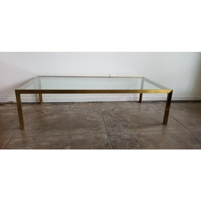 1970s 1970s Mid-Century Modern Solid Brass Coffee Table For Sale - Image 5 of 5