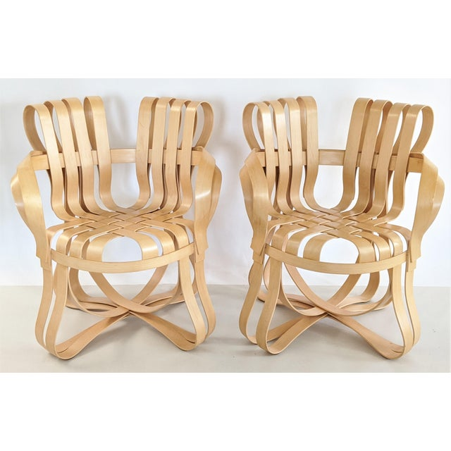 Frank Gehry for Knoll Cross Check Chair Maple Wood With Arms - a Pair For Sale - Image 13 of 13