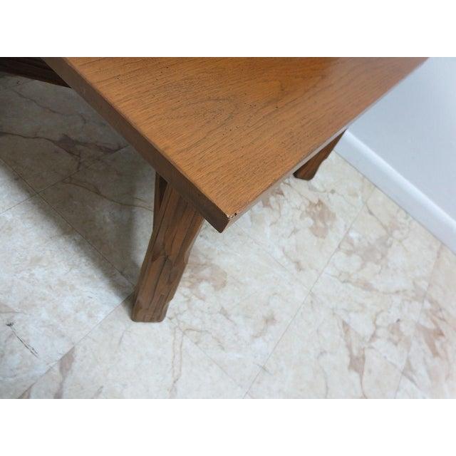 Brown Brandt Ranch Oak End Table For Sale - Image 8 of 11